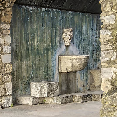 Bacchus Photograph - Secluded Water Fountain Of Old World Portugal by David Letts