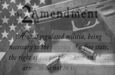Second Amendment Black And White Art Print