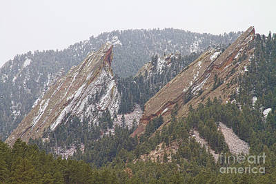Rocky Mountain Photograph - Second And Third Flatirons Boulder Colorado by James BO  Insogna