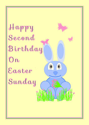 Second Birthday On Easter Art Print by Rosalie Scanlon