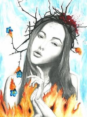 Forget Me Not Flowers Drawing - Second Coming by Kaitlyn McRae
