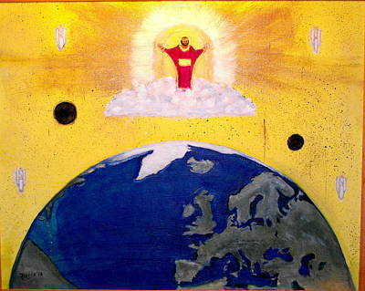 Painting - Second Coming Of Jesus by Larry Farris