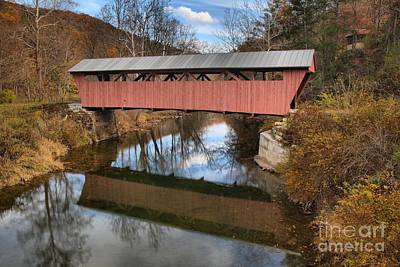 Photograph - Second Creek Covered Bridge - Hokes Mill by Adam Jewell