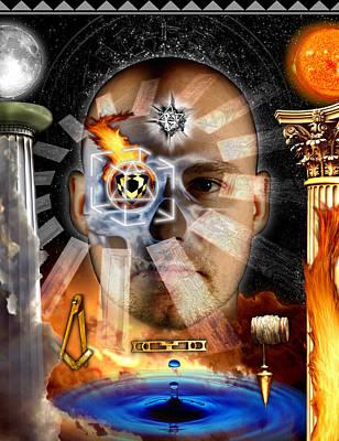 Digital Art - Second Degree Masonic Tracing Board by Gregory Stewart