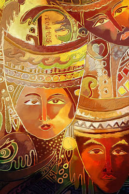 Indonesian Cultural Painting - Second Face by Corporate Art Task Force