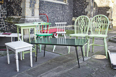 Reclaimed Glass Photograph - Second Hand Furniture by Tom Gowanlock