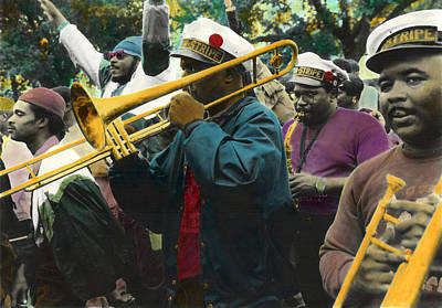 Marching Band Mixed Media - Second Line Euphoria by Ulf Sandstrom
