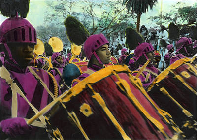 Photograph - Second Line Parade Drummers by Ulf Sandstrom