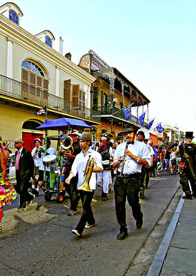 Funeral Procession Photograph - Second Line Parade by Steve Harrington