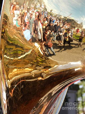 Second Line Tuba Art Print by Michael Hoard