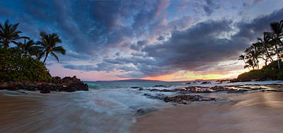 Secret Beach Pano Art Print