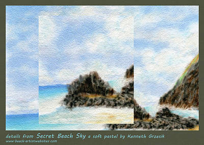 Secret Beach Sky Details Original by Kenneth Grzesik