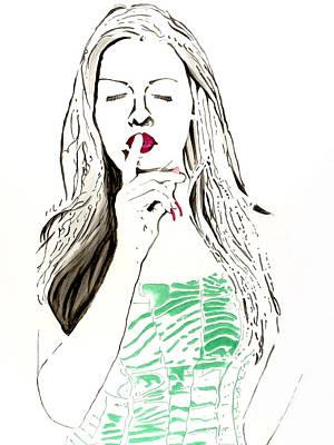 Art Print featuring the painting Secret by Denise Deiloh