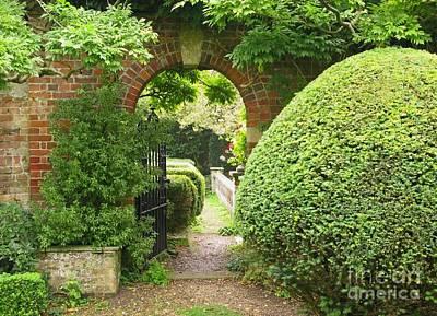 Secret English Garden Art Print by Ann Horn
