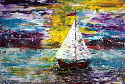 Impasto Painting - Secret Escape by Laura Barbosa