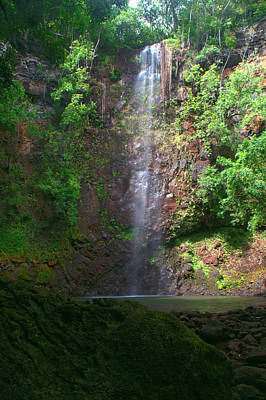 Digital Photograph - Secret Falls - Kauai by Brian Harig