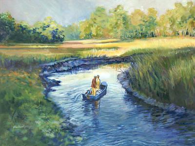 Secret Fishing Hole Art Print by Alice Grimsley