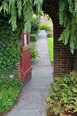 Photograph - Secret Garden Door by Tikvah's Hope