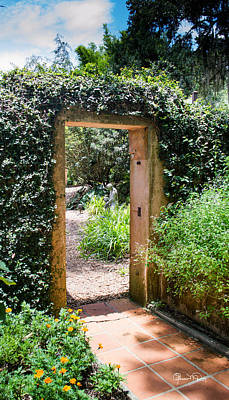 Photograph - Secret Garden Door by Susan Molnar