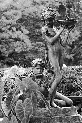 Photograph - Secret Garden Fountain by Cornelis Verwaal
