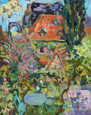 Painting - Secret Garden In St-cirque-lapopie by Katia Weyher