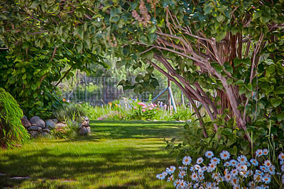 Painting - Secret Garden by Omaste Witkowski