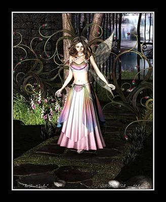 Elven Digital Art - Secret Garden by Stacie Ball