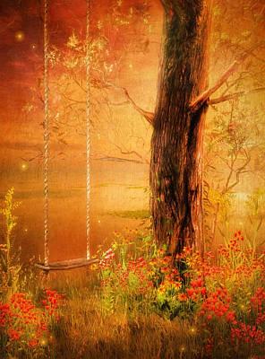 Floral Painting - Secret Gardens Fantasy by Georgiana Romanovna