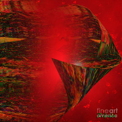 Art Print featuring the digital art Secret Love - Abstract Art By Giada Rossi by Giada Rossi