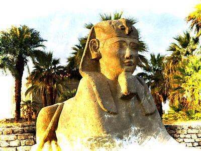 Secret Of The Sphinx Art Print by Brenda Kean