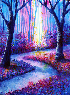 Pink Painting - Secret Path by Ann Marie Bone