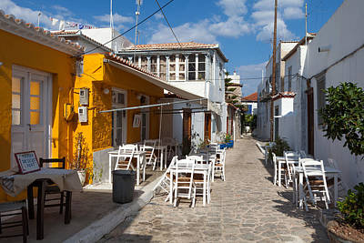 Photograph - Secret Port Taverna Hydra by Paul Cowan