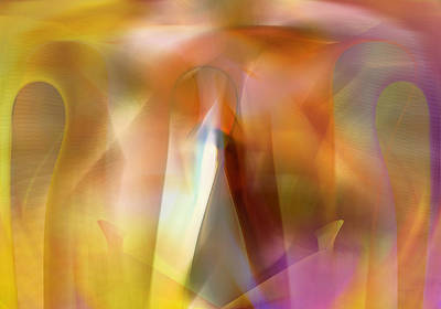Digital Art - Secret Sharing Hope - Digital Abstract by rd Erickson