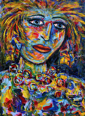 Secrets. Faces Painting - Secret Thoughts by Natalie Holland