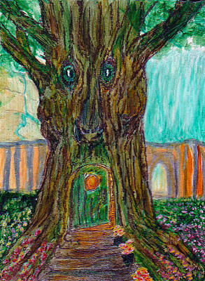 Secrets. Faces Painting - Secret Tree In The Land Of Fairies Fantasy by Michele Avanti