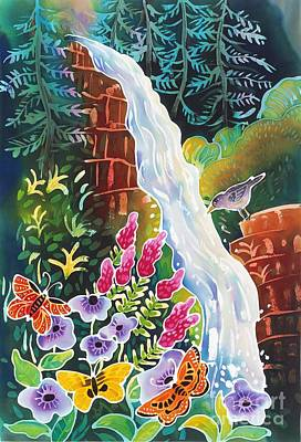 Colorado Mountain Stream Painting - Secret Waterfall by Harriet Peck Taylor