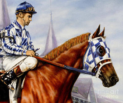 Secretariat At Churchill Art Print by Thomas Allen Pauly