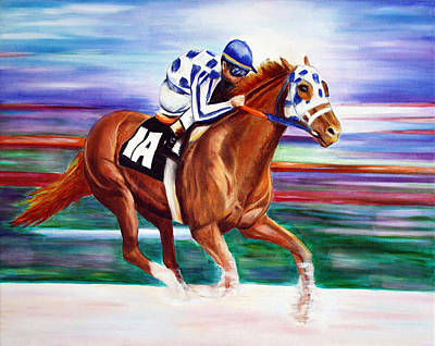 Kentucky Derby Painting - Secretariat  by Jennifer Godshalk