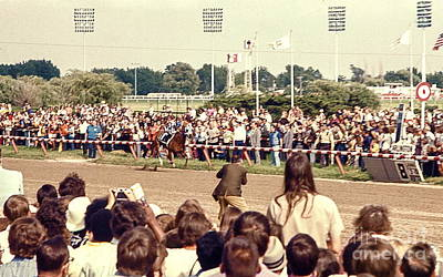 Secretariat Race Horse Coming Down To The Finish Line By Himself To Win The Big Race At Arlington R Art Print