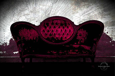 Digital Art - Secrets From The Velvet Sofa by Absinthe Art By Michelle LeAnn Scott
