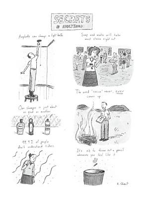 Most Liked Drawing - Secrets Of Adulthood by Roz Chast