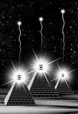 Sacred Geometry Digital Art - Secrets Of The Pyramids by Filippo B
