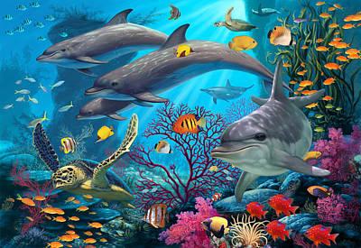 Secrets Of The Reef Art Print by Steve Read
