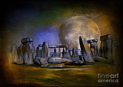 Stone Abstraction Painting - Secrets Of The World  by Andrzej Szczerski
