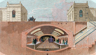 Section Of A London Underground Station Art Print