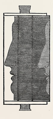 Impression Drawing - Section, Showing The Impression Of The Features by Litz Collection