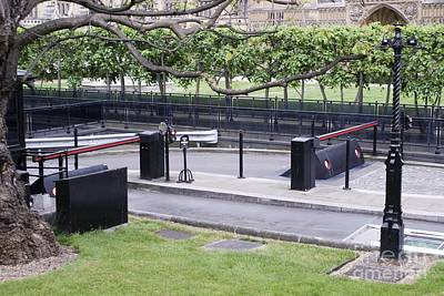 Terrorist Photograph - Security Barriers, Houses Of Parliament by Mark Williamson