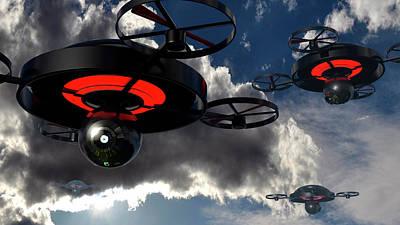 Security Drones Art Print