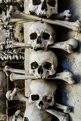 Czech Republic Mixed Media - Sedlec Ossuary Bones by Vidapix Photographer Laura Tagle Jimenez