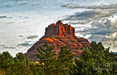 Sedona Arizona Bell Rock Painting Art Print by Gregory Dyer